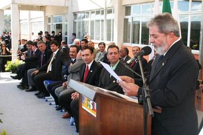 Inauguração da UNED Congonhas com o então presidente da República, Luiz Inácio Lula da Silva