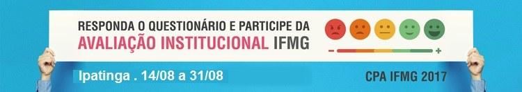 Está aberto, para participação da comunidade acadêmica, o processo de Autoavaliação Institucional 2017 do IFMG.