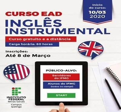 Campus Ipatinga oferta 2500 vagas para curso de inglês  instrumental a distância