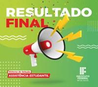 Resultado Final do Edital 03/2021 Bolsa Permanência e Auxílio Inclusão Digital tipo 2