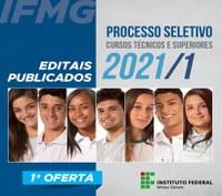 IFMG publica editais do Processo Seletivo 2021