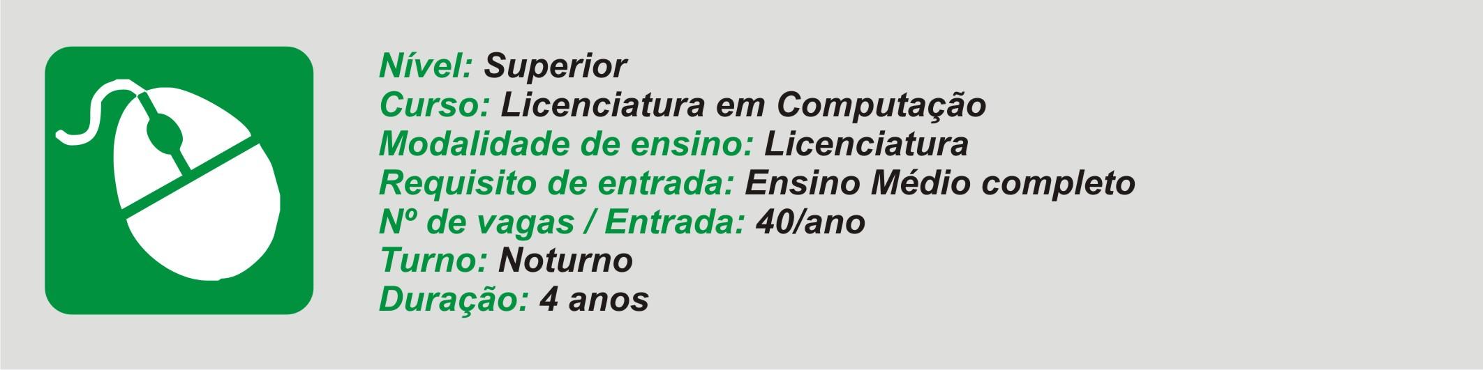 licenciatura computação