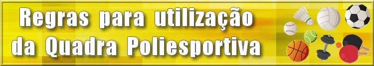 Banner Regulamento Quadra Poliesportiva