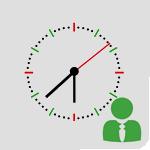Ícone de horário da administração