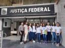 Estudantes na Justiça Federal de Ponte Nova