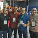 Equipe do IFMG presente ao evento, em Curitiba